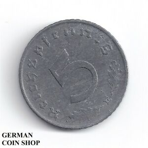 FEHLPRÄGUNG - Stempeldrehung 45 Grad 5 Reichspfennig 1941 E Zink - SELTEN