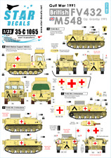 Star 1/35 Decals for British FV432 and M548