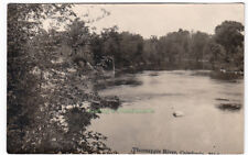 THORNAPPLE RIVER Caledonia MICHIGAN - c1925 Photo POSTCARD Kent County