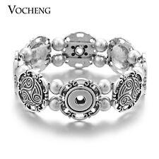 10pcs/lot Vocheng Stretch Elastic Bracelet Small 12mm Snap Jewelry NN-448*10