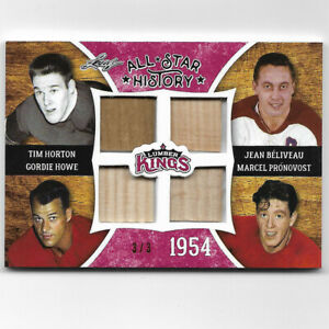 All Star History 2016 Leaf Lumber Kings 4 Game used stick Card 3/3 Horton, Howe