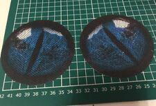 Blue Yamaha Banshee 350 quad headlight stickers Graphics Eyes Accessories