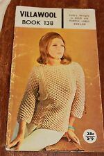 Vintage Villawool Crochet Pattern Book 138 ladies design ban-lon