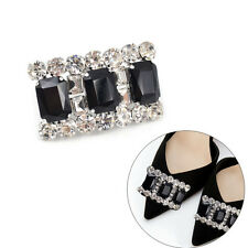 1 Pcs Lady Black Crystal Charm High-heel Shoes Clip Weeding Bridal Accessories