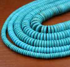 30Pcs 8mm Natural Turquoise Gemstone Heishi Beads Spacer