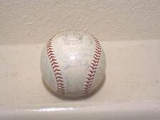Baseball signed by Hank Aaron & - 20 other players, Milwaukee Braves