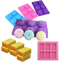 6-Cavity Rectangle Soap Mold Silicone Baking Mould Tray For Homemade Craft DIY