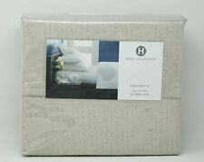 Hotel Collection Herringbone 525 TC 4-Pc. 100% Cotton Sheet Set - QUEEN - Taupe