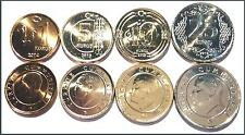 TURKEY 2014-2015 COINS UNC 4 PCS SET 1 - 5 - 10 -25 KURUS