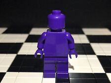 Lego Plain Dark Purple Minifigure Head Torso Hands Legs / Monochrome