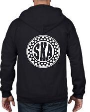 SKA CIRCLE LOGO FULL ZIP HOODIE - Mod Skinhead T-Shirt Madness Specials 2 Tone