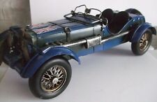 Blue Vintage Car Tin Plate Model  Hand Painted /Ornament /Gift