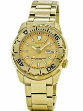 SEIKO SNZF02K1,Men's Sport,Automatic,Stainless steel,Gold Tone,Day,Date,100m WR