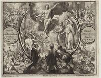 JESUS Christus Original de HOOGHE Kupferstich um 1700 Himmelfahrt Religion