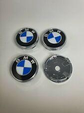 Nabenkappen BMW Blau Schwarz Set 4-teilig 60mm Radkappe Felgendeckel