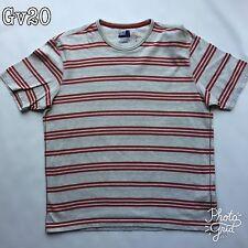 "Mens North Coast Cream Striped T Shirt Size M 38-40 P-P20"" Length 26"" 02274058"