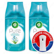2 Ricariche Air Wick Pure Profumo di primavera + Diffusore Freshmatic OMAGGIO