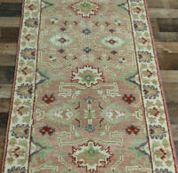 2'6x10' Fine New Coral Hand knotted Wool Turkish Oushak oriental area rug runner