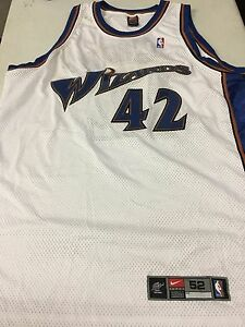 JERRY STACKHOUSE #42 WASHINGTON WIZARDS NIKE WHITE AUTHENTIC NBA JSY FREE SHIP