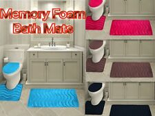 3-Piece Wave Solid Bathroom Rug Set Memory Foam Bath Mats - New Arrival Sale!