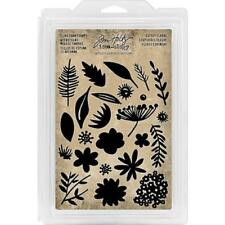 Tim Holtz Idea-ology Cling Foam Stamps - Cutout Floral TH93703