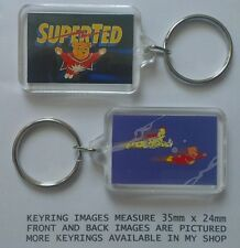 SUPER TED spotty man 80s 90s cartoon series key ring GIFT NEW