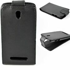Full Black PU Leather Vertical Flip Phone Case Cover Shell For HTC Desire 500
