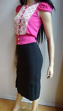 BETTIE PAGE PINUP black pencil skirt size XS NWT