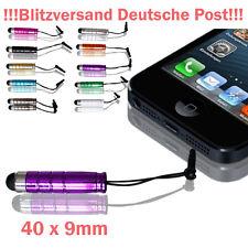 2x Mini Touch Pen Touchpen Stift Eingabestift Staubschutz Schutz LILA