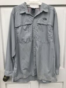 The North Face  Mens  Roll Tab Long Sleeve , Vented Back Button Up Shirt Sz XL