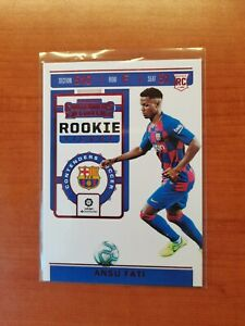 19-20 PANINI CHRONICLES SOCCER CONTENDERS ROOKIE ANSU FATI RC RED WORD CARD HOT