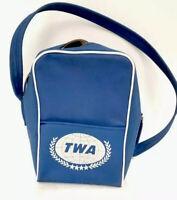 Vintage TWA Trans World Airlines mini blue carry on bag rare