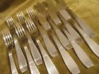 6 couverts poisson metal argente christofle Saigon Lanel (fish forks & knives)