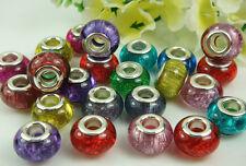 50pcs mix murano DIY Jewelry charm bead fit European Bracelet beads wholesale m3