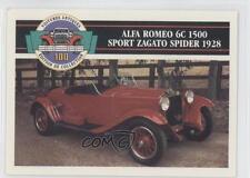 1991 #31 Alfa Romeo 6C 1500 Sport Zagato Spider 1928 Non-Sports Card 0b6