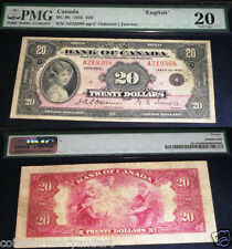 SMALL SEAL BC-9b BANK OF CANADA $20  OSBORNE / TOWERS PMG 20