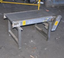 0.75kW 1m long motorised powered 40cm wide rubber belt conveyor system STAINLESS