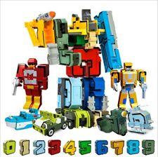 10pcs Number Robot Transformation Alphabet Dinosaur Robot Animal Building Blocks