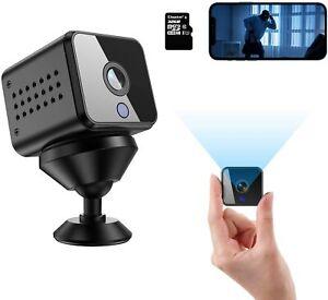 Mini Hidden Spy Camera HD 1080P Wireless WiFi Nanny Cam with Audio and 32G SD