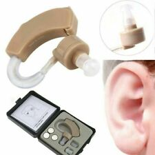 Mini Digital Hearing Aid Kit Adjustable Behind in Ear Sound Voice Amplifier Case