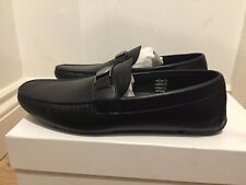 VERSACE Collection Driving Shoes in Black Leather Size UK 6/EU 39 £385