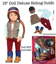 "18"" Doll HORSE RIDING Equestrian Show Derby Clothes Outfit for American Girl Boy"