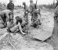 WWII Photo Burned US Marine Peleliu October 1944 USMC  World War 2 WW2 / 1170