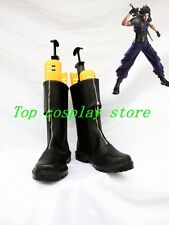 Final Fantasy VII Zack Fair Zacks's Black Cosplay Shoes Boots Cloud Strife shoe