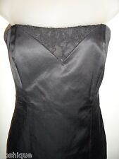 bebe 4 Black Dress Lace Corset Cocktail Pencil Strapless Sexy Spring Party CHIC