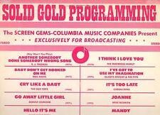 SOLID GOLD PROGRAMMING disco LP BOX TOPS BLUE SWEDE GALLERY MAC DAVIS STREISAND