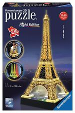 Ravensburger 3d Puzzle Eiffel Tower Paris Special Night Edition LED W/ Lights