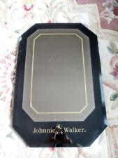 Vintage 70's Johnnie Walker Black Scotch Rare Promotional Mirror Beveled Glass