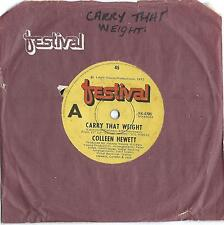 "COLLEEN HEWITT  (Beatles) "" Danny Boy / Carry That Weight""     45 Single Vinyl"