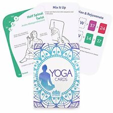 Crown Sporting Goods Yoga Cards Exercise Deck, 45 Poses, Custom Workouts
